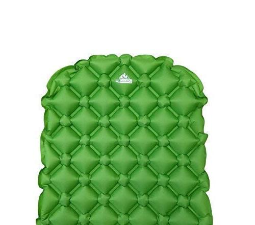 Outdoorsman Sleeping Pad - Ultra-Compact for Backpacking, Camping, Travel w Air-Support