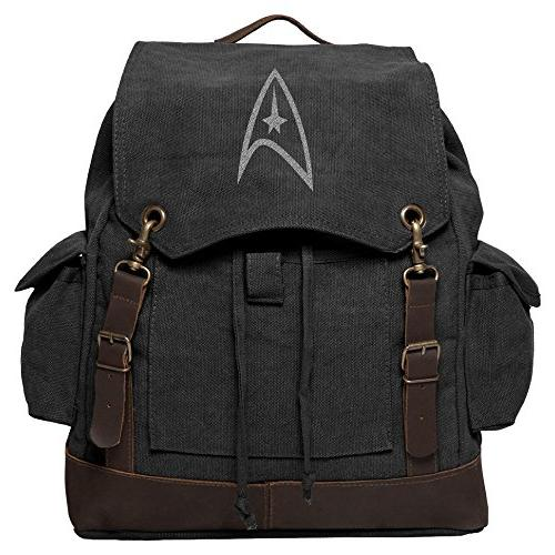 Star Trek Federation Canvas Rucksack Backpack with Leather S