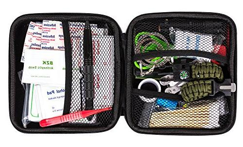 Survival Kit + and Emergency for Earthquake + Tactical Medical Kits Travel Person Home Office Backpacking Hiking Fishing Camping