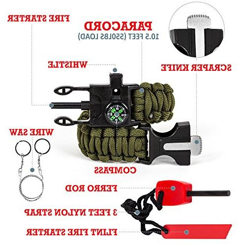Survival and Gear Earthquake Bug + Kits Home Office Car Backpacking Hiking
