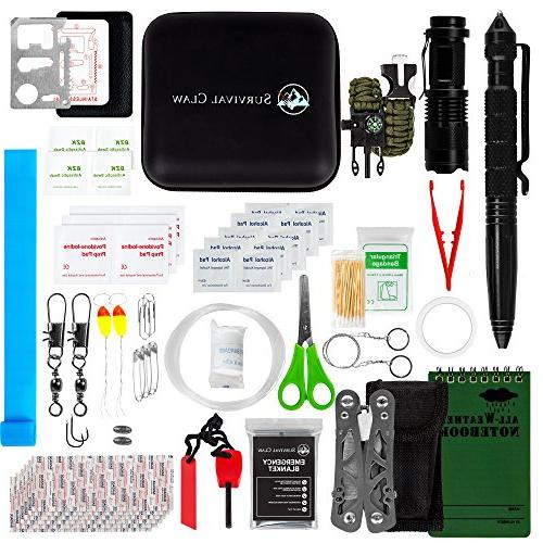 Survival Claw: First Aid Kit + Survival Kit and Emergency Ge
