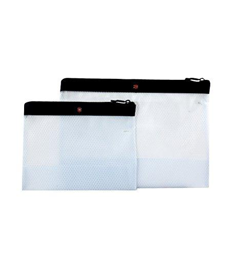 Victorinox Set Of Two Spill-Resistant Pouches, Black, One Si
