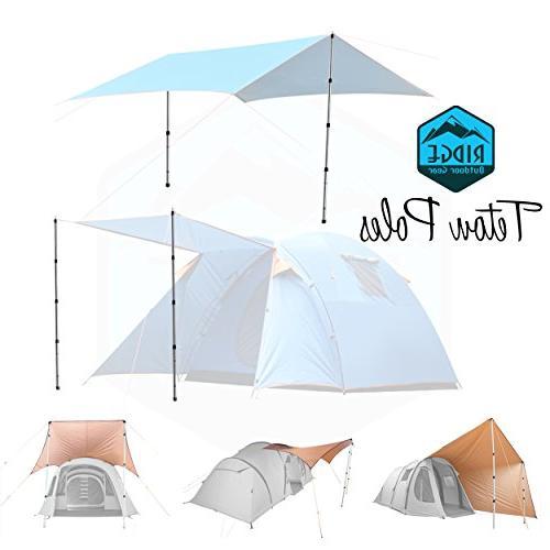 Ridge Telescoping Tarp Tent 2.75ft Rods, Extending for Camper Camping