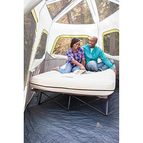 Coleman Queen Airbed Cot with Tables and