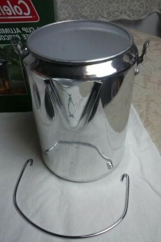 ALUMINUM Coleman 9 COFFEE POT PERCOLATOR w GLASS KNOB Hunting