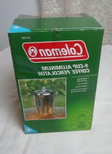 aluminum 9 cup coffee pot percolator w