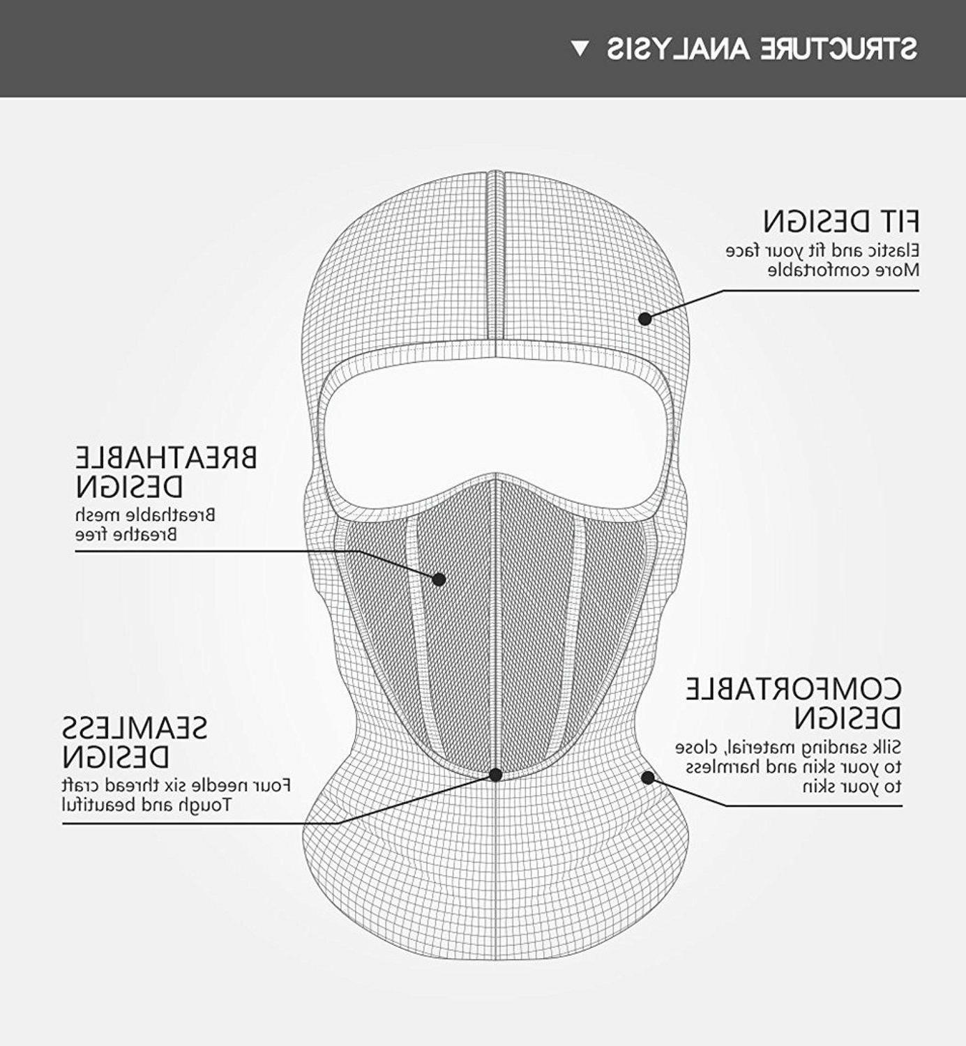 Balaclava Hat Windproof Face for Black