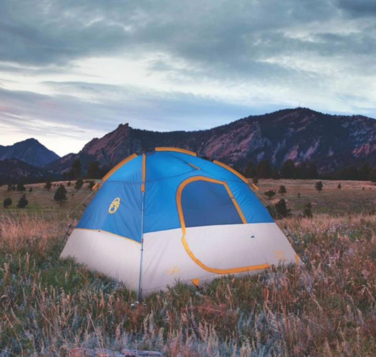 Coleman Camping 3 Person Flatiron Instant Dome Tent EDC outd