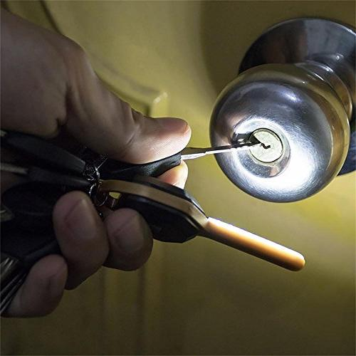 Camping & LED Key Cover Keyring Peace Mind key dark