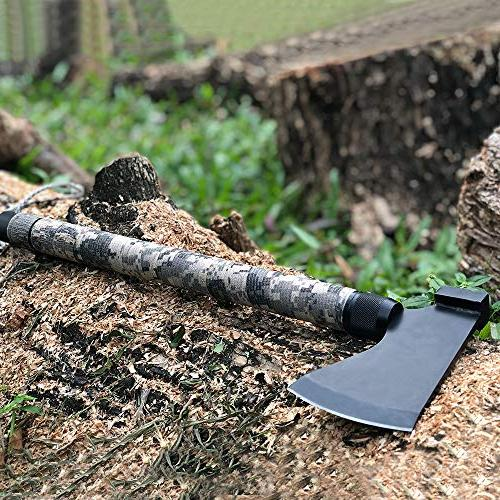 IUNIO Axe Hatchet Tomahawk Folding Portable Ax Compass Whistle for Outdoor Hiking Emergency