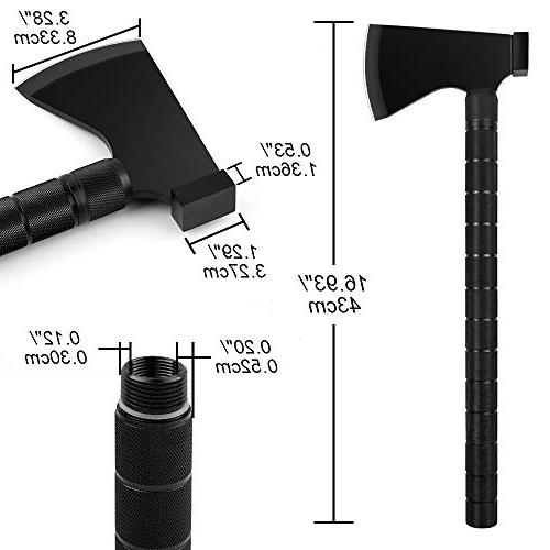 IUNIO Axe Multi-tool Hatchet Survival Kit Tactical Tomahawk Camp Ax Compass Flint Whistle Outdoor Hiking