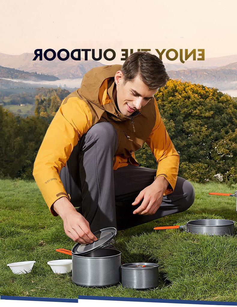 Outdoor Mess 3 Pot Pan Tea