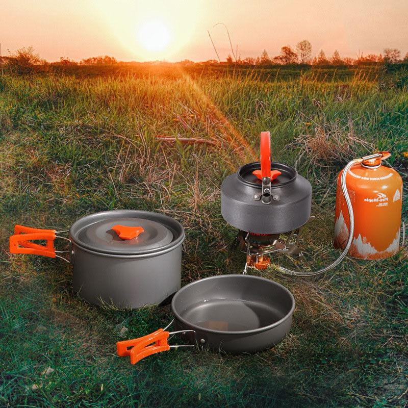 Camping Backpacking Outdoor Mess Kit 3 Pieces Tea