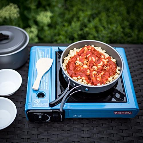 2 Cookware Mess Kit Gear & Hiking Bug 10 Piece Lightweight, Pot Free Folding Nylon Bag
