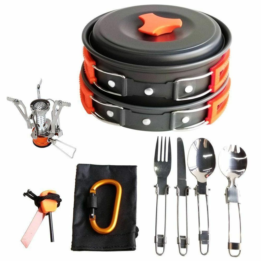 Camping Cookware Mess Backpacking Hiking Bug Bag Equipment