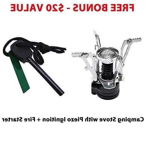 Gold 10-17Pcs Cookware Gear & Bug Cooking Equipment Cookset Lightweight, Compact, Durable Bowls