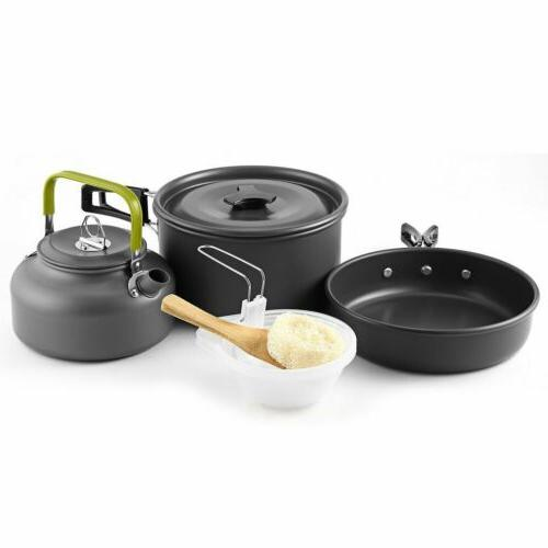 Camping Cookware Cookset Kit Gear Compact MY