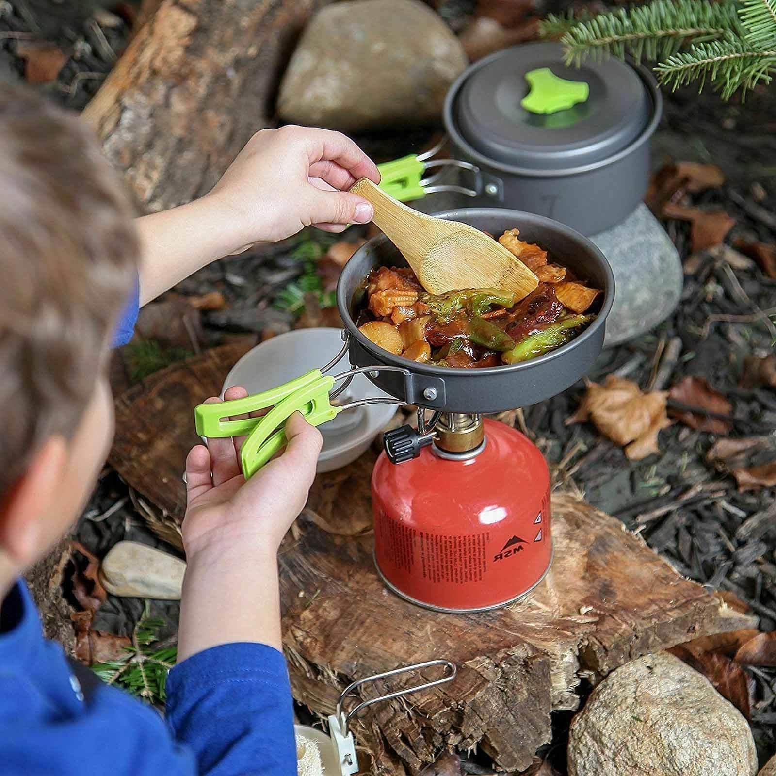 Camping Cookware Kit Cookset Kit Gear Backpacking