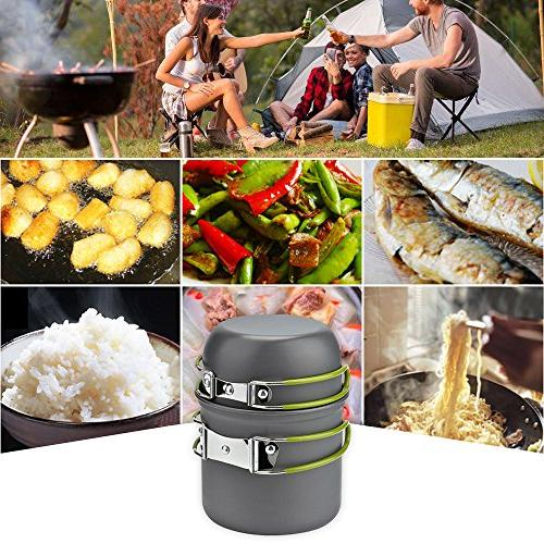 MALEDEN Cookware Lightweight Durable Outdoor Cooking Mess Gear for Hiking Piece with Bug Out Bag People