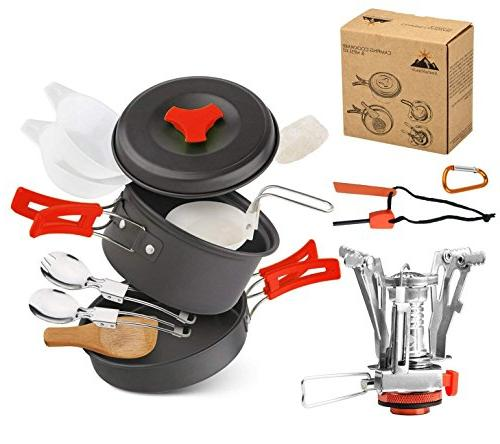 camping cookware set hiking backpacking