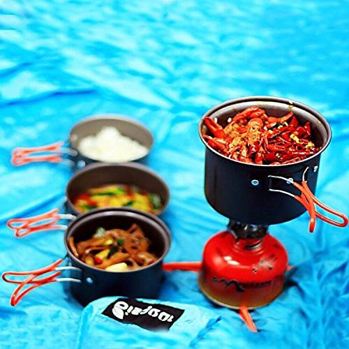 15pcs Carabiner Stand Collapsible Cup Cookset Wine Opener for Persons