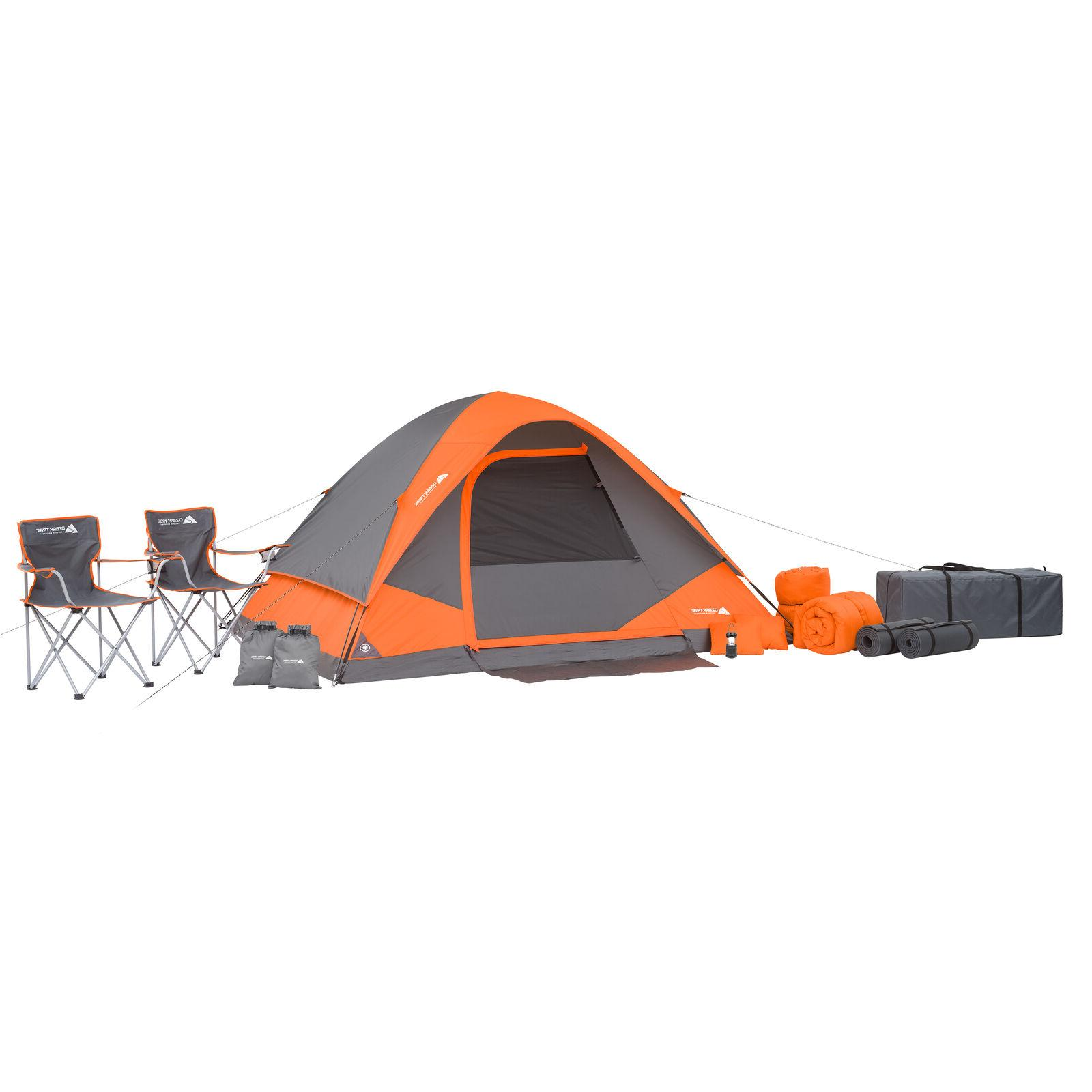 Camping Equipment Family Cabin Set 4 Person Tent Sleeping Ba