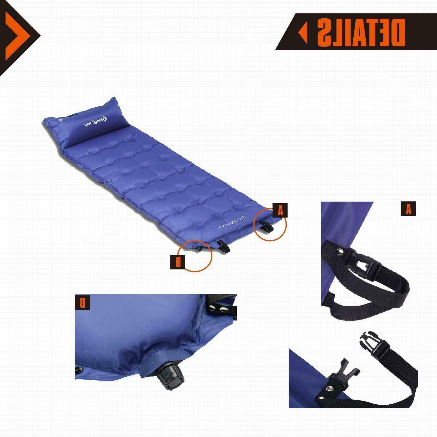 camping self inflating pads portable outdoor mat