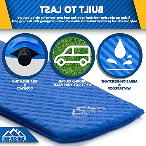 Sleeping Camping - Mattress Great as Hiking, Backpacking, Tent, or Car Sleeping Premium Thick Plush Air Foam Pads, Carry Included