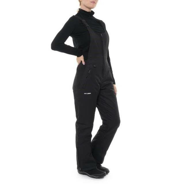 Women's Insulated Overalls Bib, 3X, Black