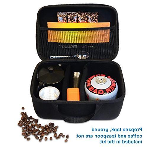 Compact Coffee Kit – Coffee Hiking, Backpacking, Outdoor, – Propane 2 Coffee Cups,Travel