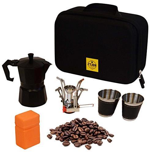 compact portable coffee maker kit