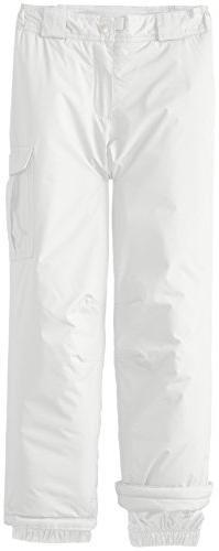 White Sierra Girls Cruiser Insulated Pants, Medium, Milky Wh