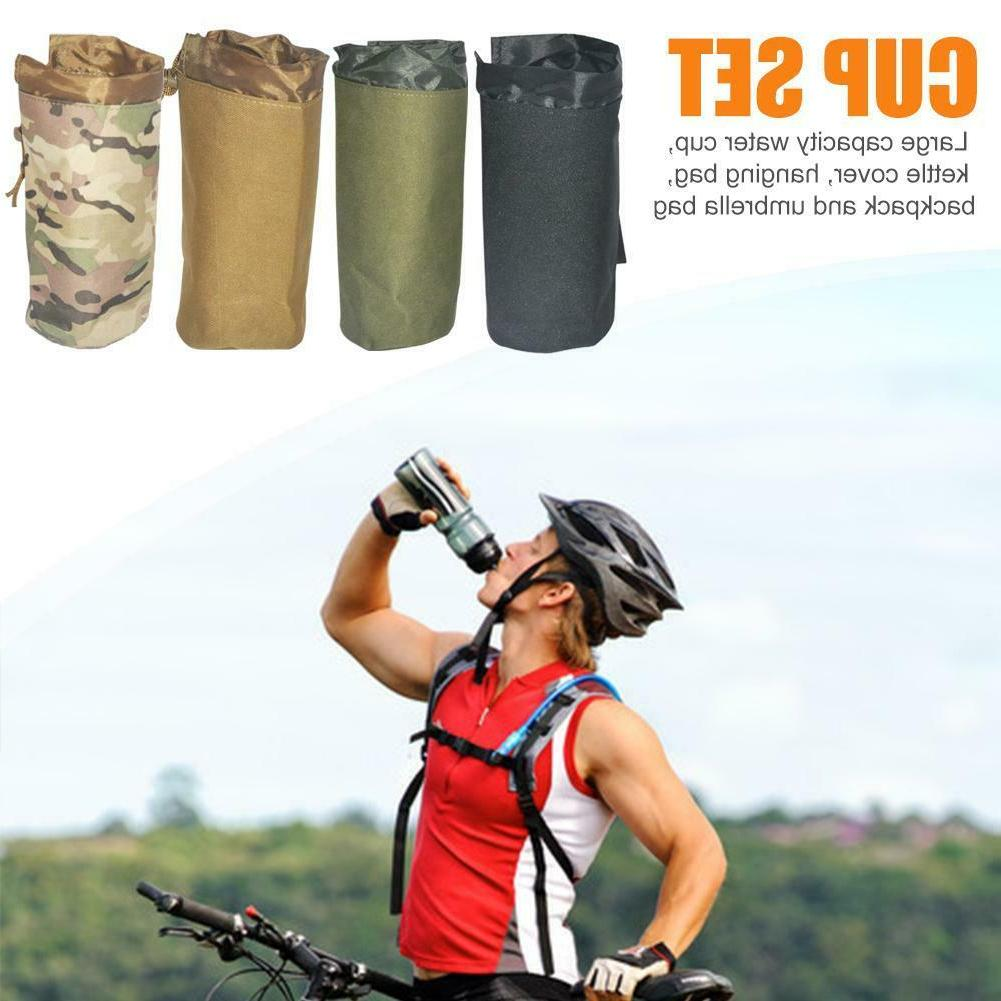 CS Gear Outdoor Camping Hiking Kettle Bag Water Bottle Umbre