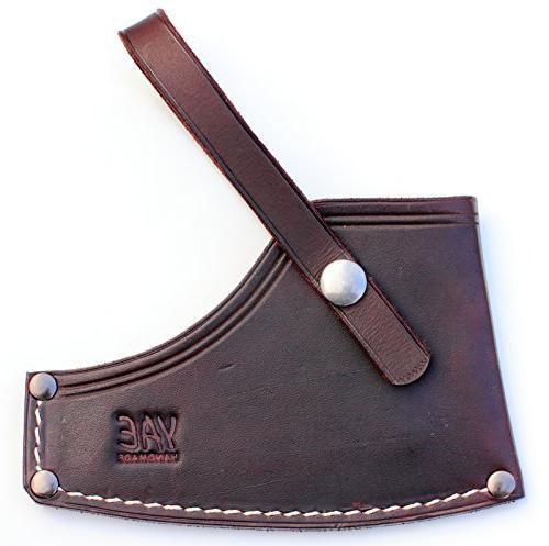custom leather double axe sheathe