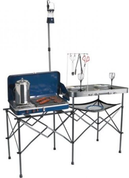 Ozark Trail Deluxe Portable Camp Kitchen Table Outdoor