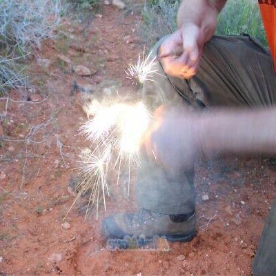 4in1 Flint Gear Starter Waterproof Magnesium Survival Camping