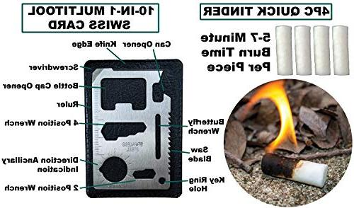 Emergency Survival 35 PCS Outdoor Gadgets, and Tools. Hiking, Camping, Essentials. Bushcraft, Best