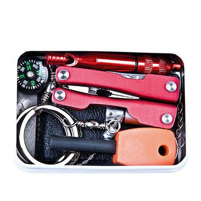 Outdoor Emergency Survival Kit First Aid Box For Camping Sur