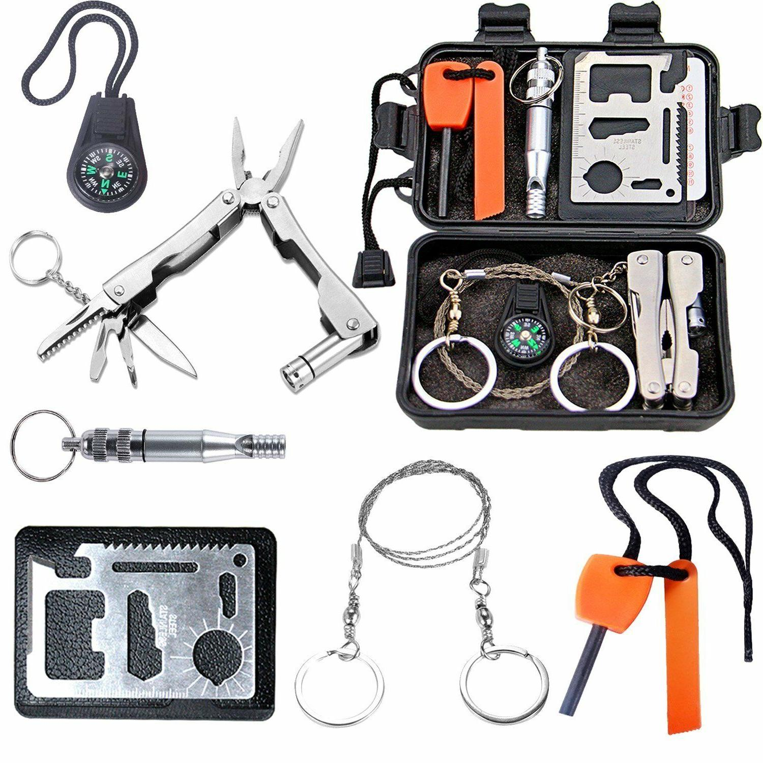 Emergency Survival Kit Outdoor Gear Camping Hiking Travel Di