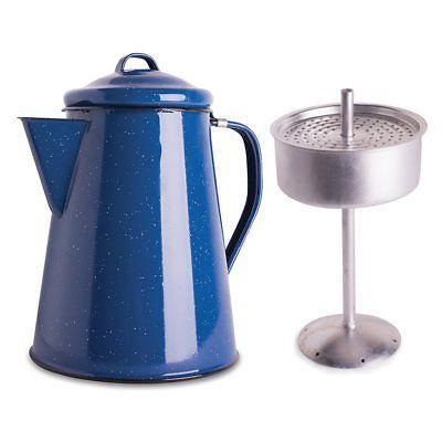 enamel 8 cup percolator coffee pot
