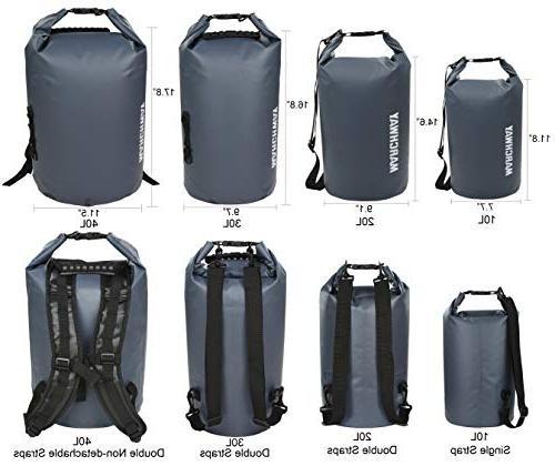 MARCHWAY Dry Bag Roll Top Pack Keeps Kayaking, Rafting, Boating, Camping,