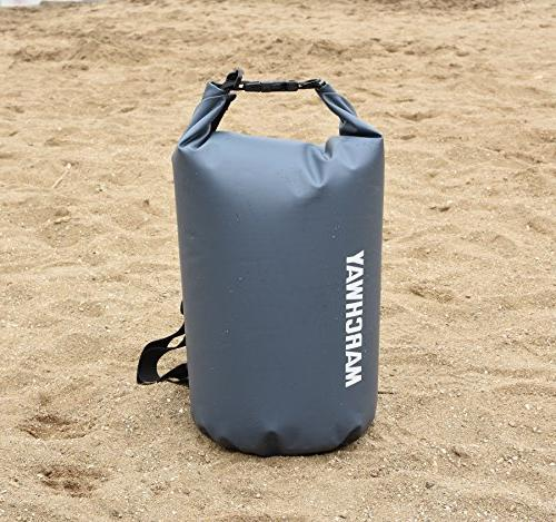 MARCHWAY Floating Waterproof Dry Roll Top Sack Keeps Gear Dry for Kayaking, Rafting, Swimming, Camping, Hiking, Beach,