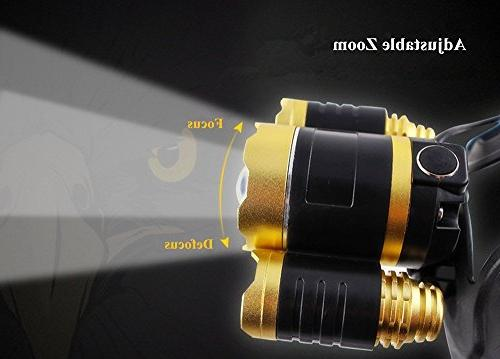 Bisgear 6000 Lumen Focusing Headlamp Bright t6 Cree Headlight Tools Waterproof Flashlight Mining Light Camping Gear