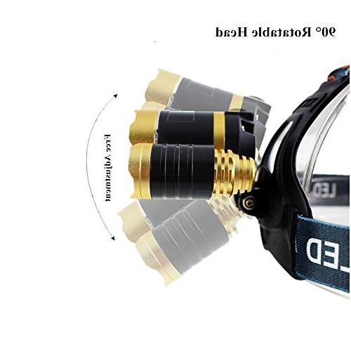 Bisgear 6000 Focusing Headlamp Rechargeable Bright t6 Cree Headlight Hunting Flashlight Mining Gear