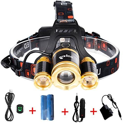 focusing headlamp rechargeable ultra bright