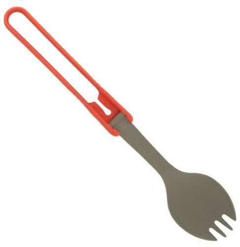 folding utensils red