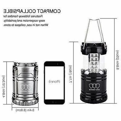 Gold Lantern 4 Pack LED Camping Lanterns Equipment For
