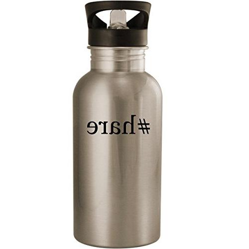 #hare - Stainless Steel 20oz Road Ready Water Bottle, Silver