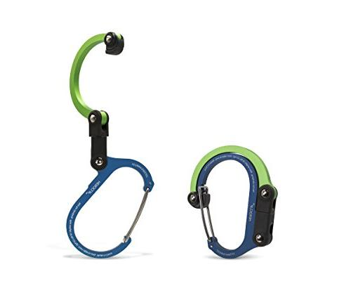 Rotating Hook Clip Hybrid Gear Clip Carabiner for Camping Fishing Hiking Travel Backpack Moontie Carabiner Clip