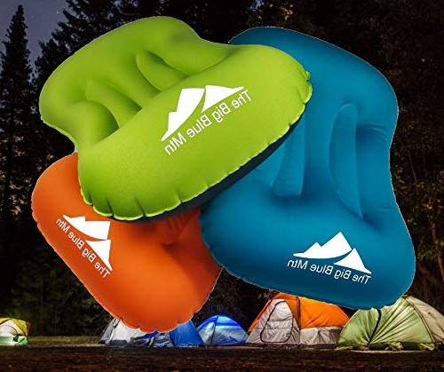 TheBigBlueMtn Ultralight Backpacking Camping Pillow 2 Set With Pouch Sack And Carabiner - Travel